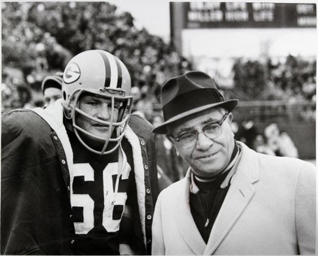 Ray Nitschke with Coach Vince Lombardi of the Green Bay Packers